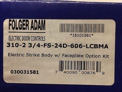 Folger Adam 310-2 3/4-FS-24D-606-LCBMA Electric Strike Body and Faceplate Option - Lcbma Strike Body