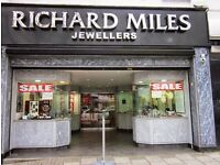 Job opportunity as a Part Time Sales Assistant for Richard Miles Jewellers