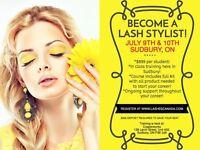 Eyelash Extension Training in Sudbury $899 July 9/10