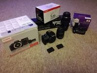 """Complete """"As New"""" Canon EOS 100 DSLR outfit - Ideal for Student/Enthuiast"""