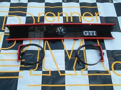 Frontgrill für Golf 1 GTI,Caddy1,Golf 1,Cabrio /roten Leisten +VW Zeichen+Emblem