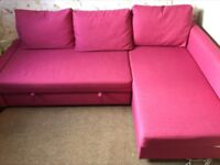 Ikea corner sofa bed excellent condition with storage