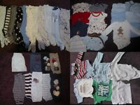 large 0-3 month baby boy clothes bundle