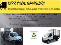 General rubbish and garden waste removal services using our caged tipper vehicles and vans