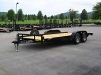 2015 CAR HAULER, SMALL EQUIPMENT TRAILER, 7000 lb GVW