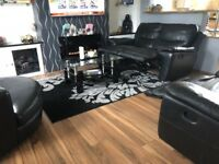 2 x 2 seater reclining sofas and swivel chair from SCS