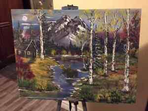 """Moose Oil Landscape Paintings 18 """" by 24""""or acrylic"""