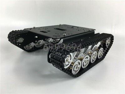 Cnc Metal Robot Atv Track Tank Chassis Obstacle Crossing Crawler For Arduino
