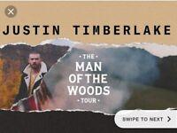 2x Justin timberlake - man of the woods tour