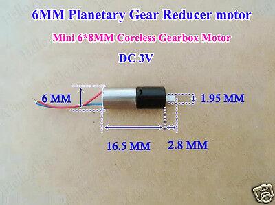 Dc 3v Micro Mini 6mm Planetary Gear Reducer Coreless Gearbox Motor Diy Robot Car