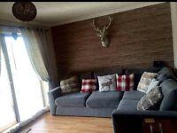 Next grey fabric corner sofa