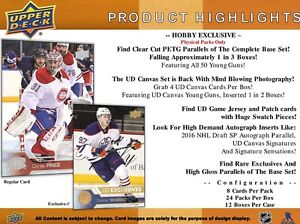 2016-17 Upper Deck Series 1 Hockey Hobby Trading Cards Box Kitchener / Waterloo Kitchener Area image 4