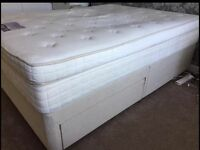 Dreams king size bed with 2 drawers and mattress in great condition