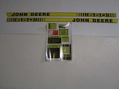 John Deere 650 Tractor Decal Set Hood Stickers With Caution Kit