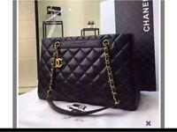 Large black leather classic chanel handbag 👜 rrp £6k new