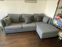 MADE - As New - Milner Right Hand Corner Sofa Bed with Storage and Foam Mattress