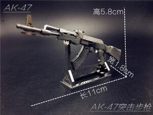 AK47 Kalashnikov Gun Laser Cut Metal Model Kit