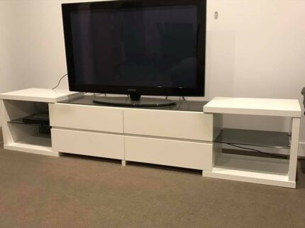 white tv entertainment center. White Gloss Tv Entertainment Unit Center F
