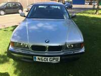 BMW 740i petrol auto with fsh mot in clean condition