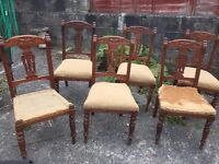 DINNING CHAIRS SET OF 6