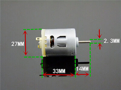 Miniature Motor 365 Dc Motor Toy Model Accessories Electrical Tools 6v-12v Diy