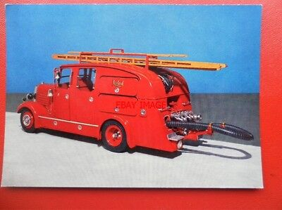 POSTCARD FIRE ENGINE - PUMP 1936