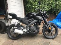 Yamaha MT-125 (ABS) 2017 Tech Black mt125