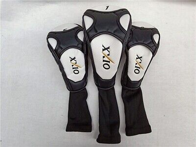 Golf Driver Wood 1-3-5 Head Cover XXIO On Course Style White-Black 3 Pieces Set