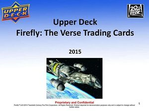 2015 Upper Deck FireFly: The Verse Trading Cards Box Kitchener / Waterloo Kitchener Area image 4