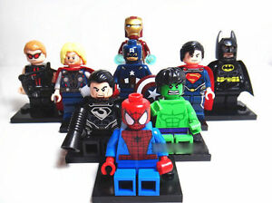 9 Sets/lot Super Heroes Series Minifigures Blocks Toy Avengers Souptoys Gift