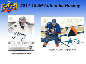 2014-15 Upper Deck SP Authentic Hockey Cards Hobby Box Kitchener / Waterloo Kitchener Area image 5