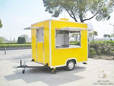 8ft Box Mobile Food Cart Trailer - Made To Order Stainless Steel Custom Truck