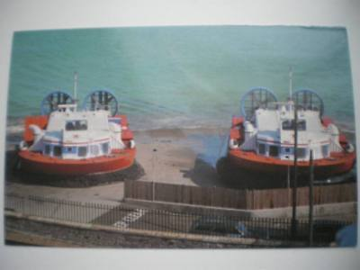 POSTCARD RYDE - HOVERCRAFTS AT THE HOVERTRAVEL TERMINAL