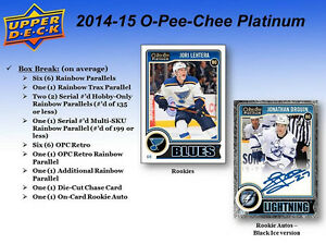 2014-15 Upper Deck OPC Platinum Hockey Cards Hobby Box Kitchener / Waterloo Kitchener Area image 3