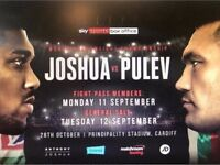 *Reduced* 4 x Middle Tier Anthony Joshua Tickets
