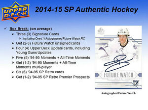 2014-15 Upper Deck SP Authentic Hockey Cards Hobby Box Kitchener / Waterloo Kitchener Area image 3