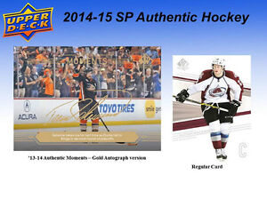 2014-15 Upper Deck SP Authentic Hockey Cards Hobby Box Kitchener / Waterloo Kitchener Area image 6