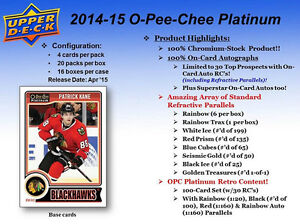 2014-15 Upper Deck OPC Platinum Hockey Cards Hobby Box Kitchener / Waterloo Kitchener Area image 2