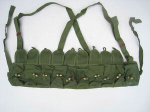 Original-Chinese-Military-SKS-TYPE-56-AMMO-CHEST-RIG-Bandolier-Pouches