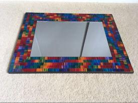 Multicoloured mosaic mirror