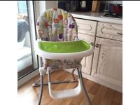 Mother Care High Chair + 2 rubber bibs