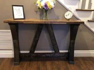 Custom Rustic Hall and Sofa Tables