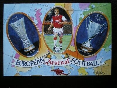 POSTCARD ARSENAL EUROPEAN - UEFA CUP & CUP WINNERS CUP