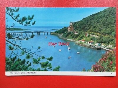 POSTCARD MONTGOMERYSHIRE THE RAILWAY BRIDGE BARMOUTH