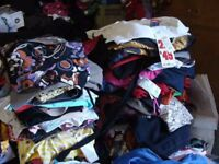Secondhand used clothes sorted