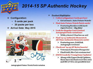 2014-15 Upper Deck SP Authentic Hockey Cards Hobby Box Kitchener / Waterloo Kitchener Area image 2