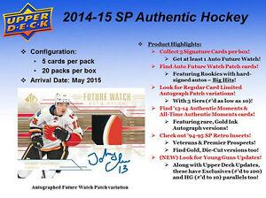 2014-15 Upper Deck SP Authentic Hockey Cards Hobby Box Kitchener / Waterloo Kitchener Area image 2
