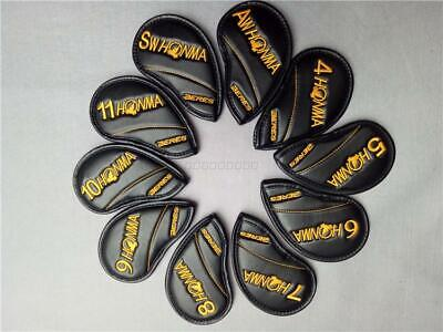 Golf Club Iron Head Cover Set HONMA Yellow Color Logo Style 4-11-A-S