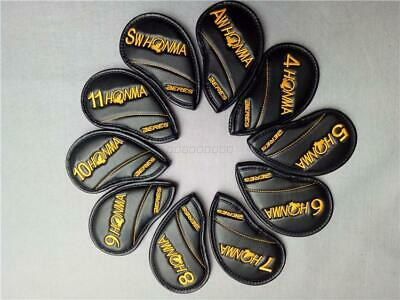 Golf Club Iron Cover Set HONMA Yellow Color Logo Style 4-11-A-S