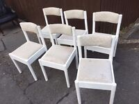 SET OF 6 WOOD DINING CHAIRS X 6 ** FREE DELIVERY AVAILABLE **